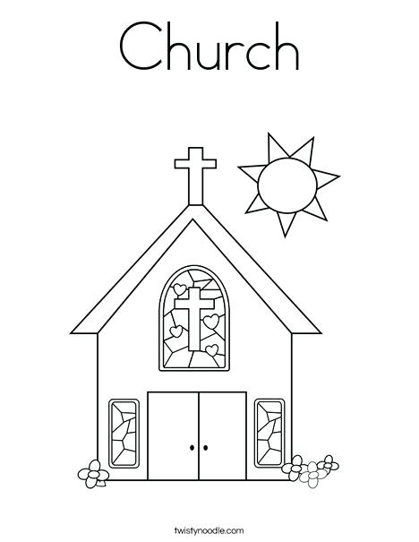468x605 Church Coloring Pages Church With Stained Glass Window Coloring