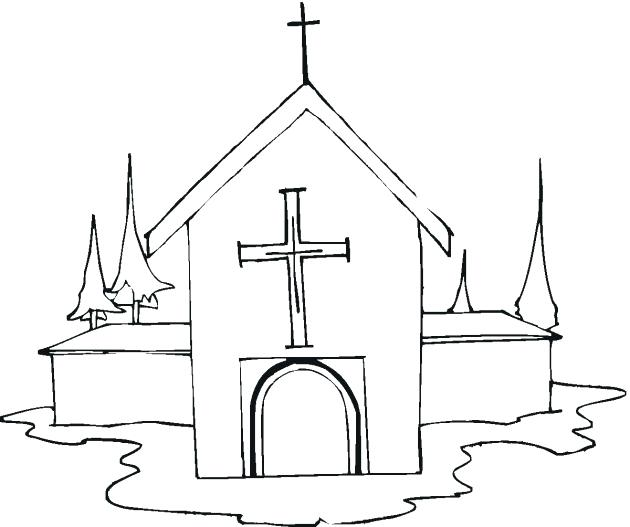 630x527 Church Coloring Pages To Print School Sheets Printable Catholic