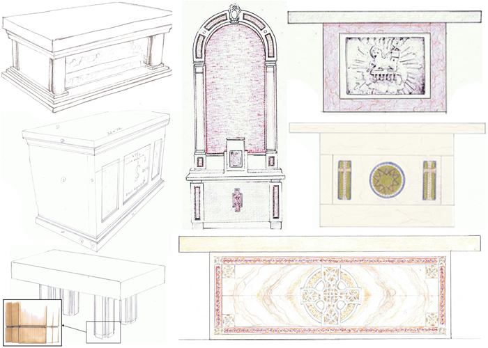 700x500 Collection Of Church Altar Drawing High Quality, Free