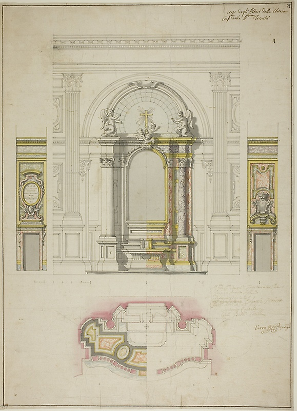 579x800 Design For An Altar In The Church The Confraternity