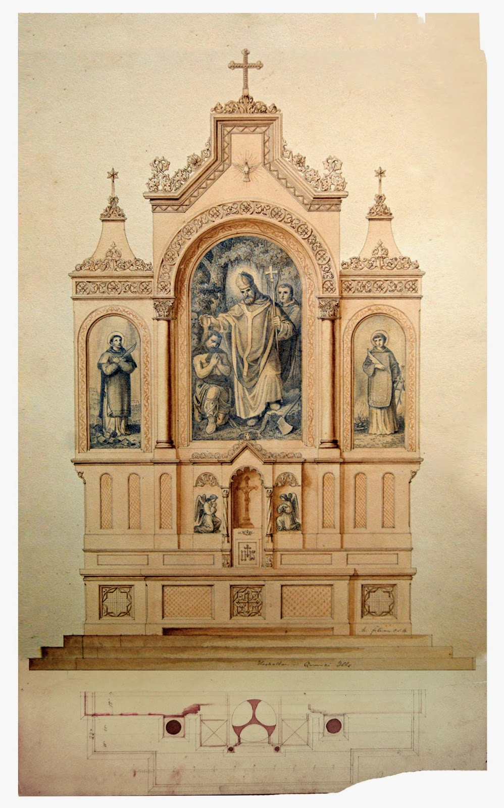 998x1600 New Liturgical Movement Exhibition Of Drawings Of Church Altars