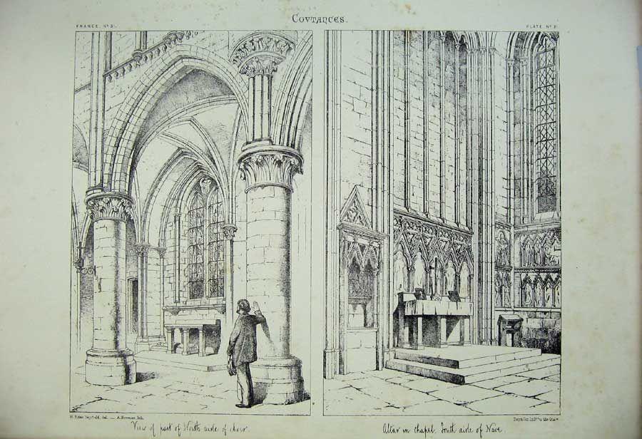 900x616 Print France Architecture Covtances Choir Altar Nave Church Arch