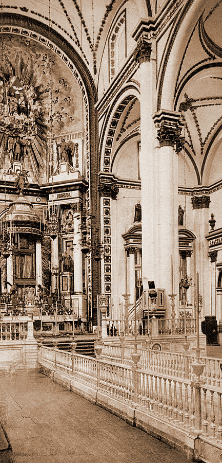 433x900 The Altar, Church Of Guadaloupe, The Cathedral, City Drawing By