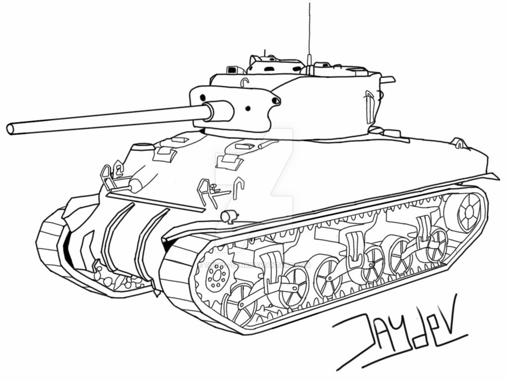 Churchill Tank Drawing