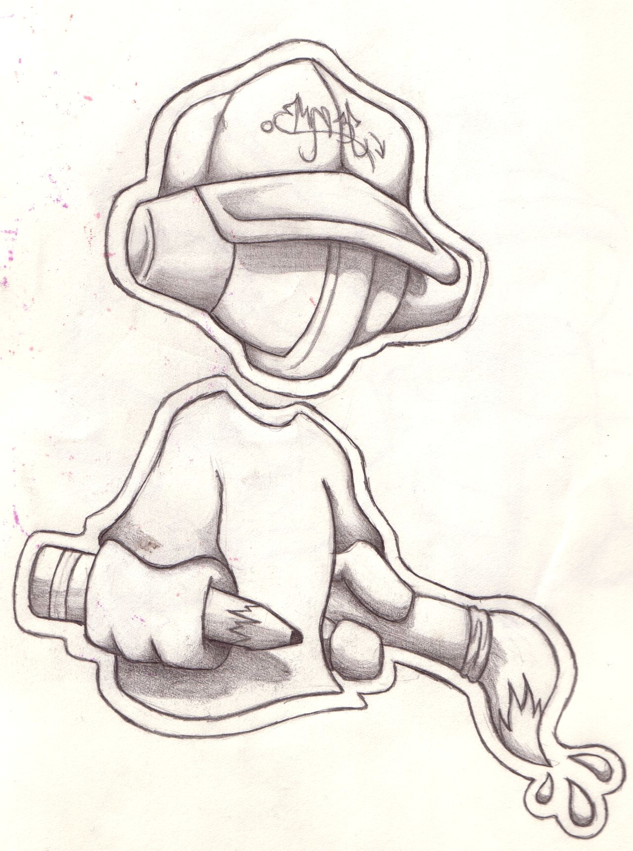 1280x1719 Easy City Sketches Inspirational Cool Easy Graffiti Character
