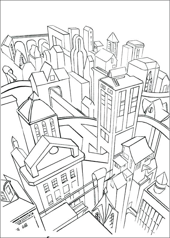 567x794 Lego City Coloring Book And City Coloring Pages City Batman