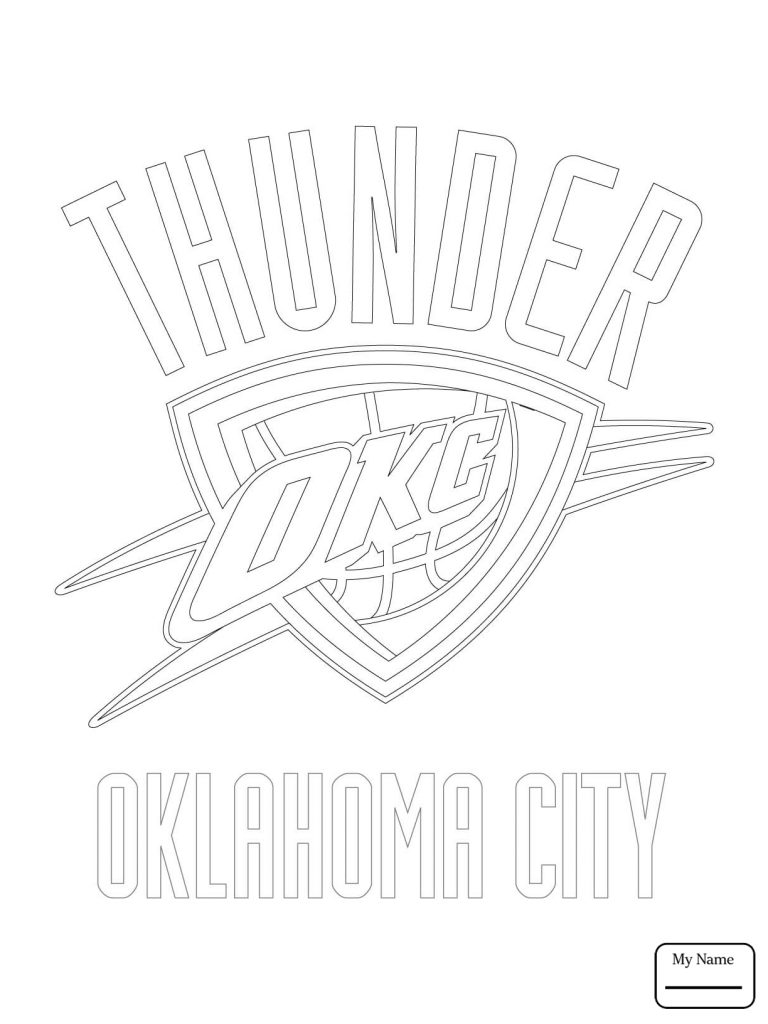 768x1024 Oklahoma City Thunder Coloring Pages