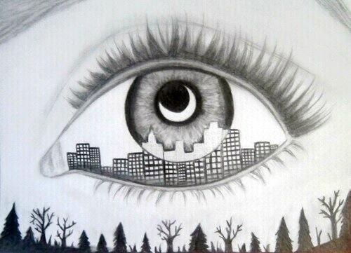 500x361 Dope Artz On City, Eye And Drawings