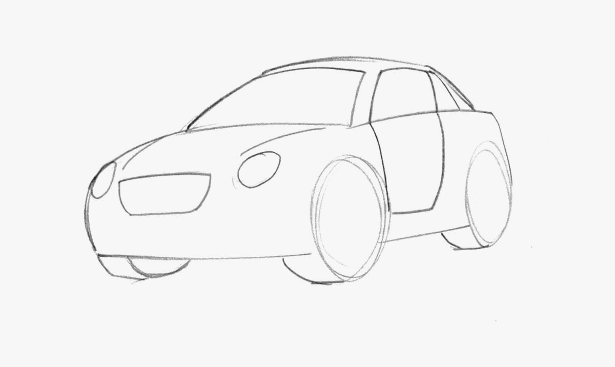 1200x716 Auto Draw Fresh Learn How To Draw A Cartoon Car Easy