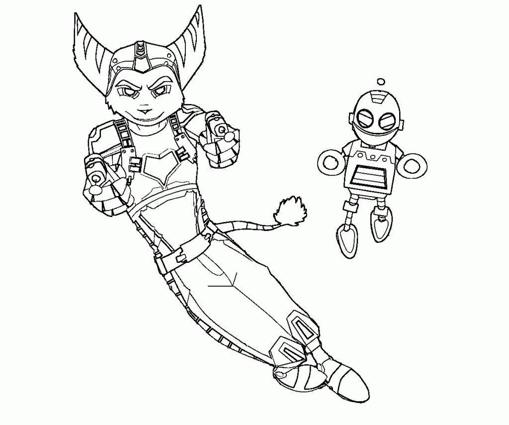 1024x854 New Ratchet And Clank Coloring Pages Collection Free Coloring Book