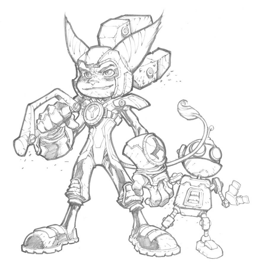 873x915 Ratchett And Clank By Mikebowden