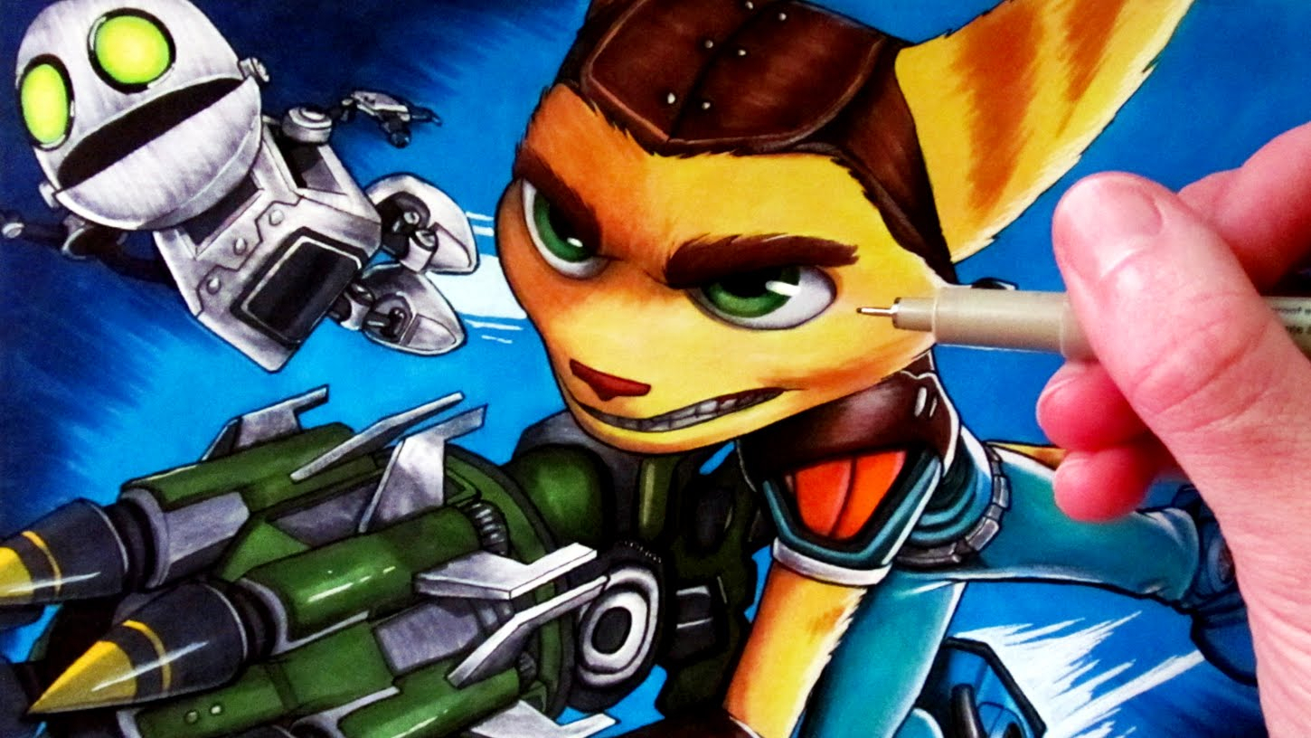 1450x816 Ratchet And Clank Drawing Drawing Ratchet And Clank
