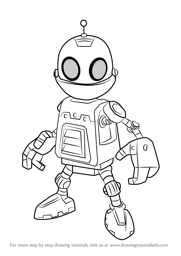 596x843 Learn How To Draw Clank From Ratchet And Clank (Ratchet Amp Clank