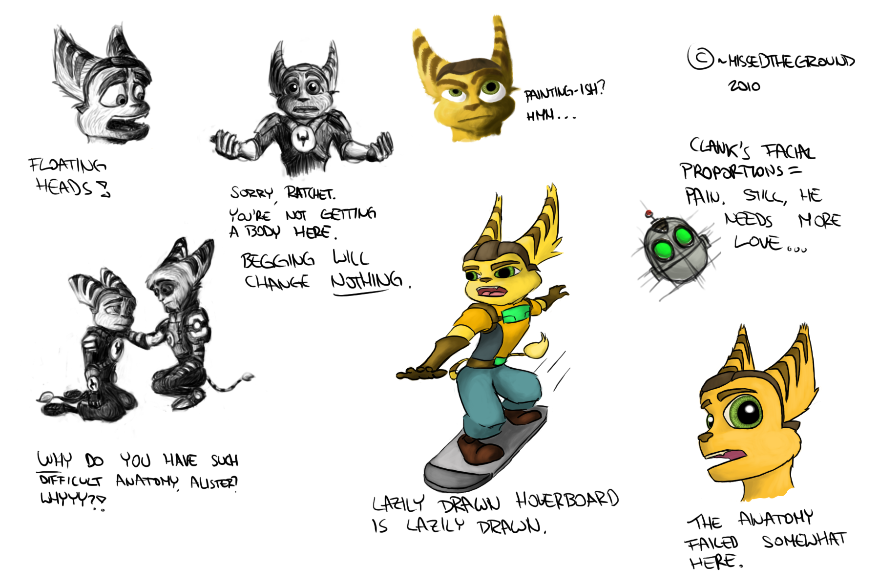 1800x1200 Ratchet And Clank Sketches By Missedtheground