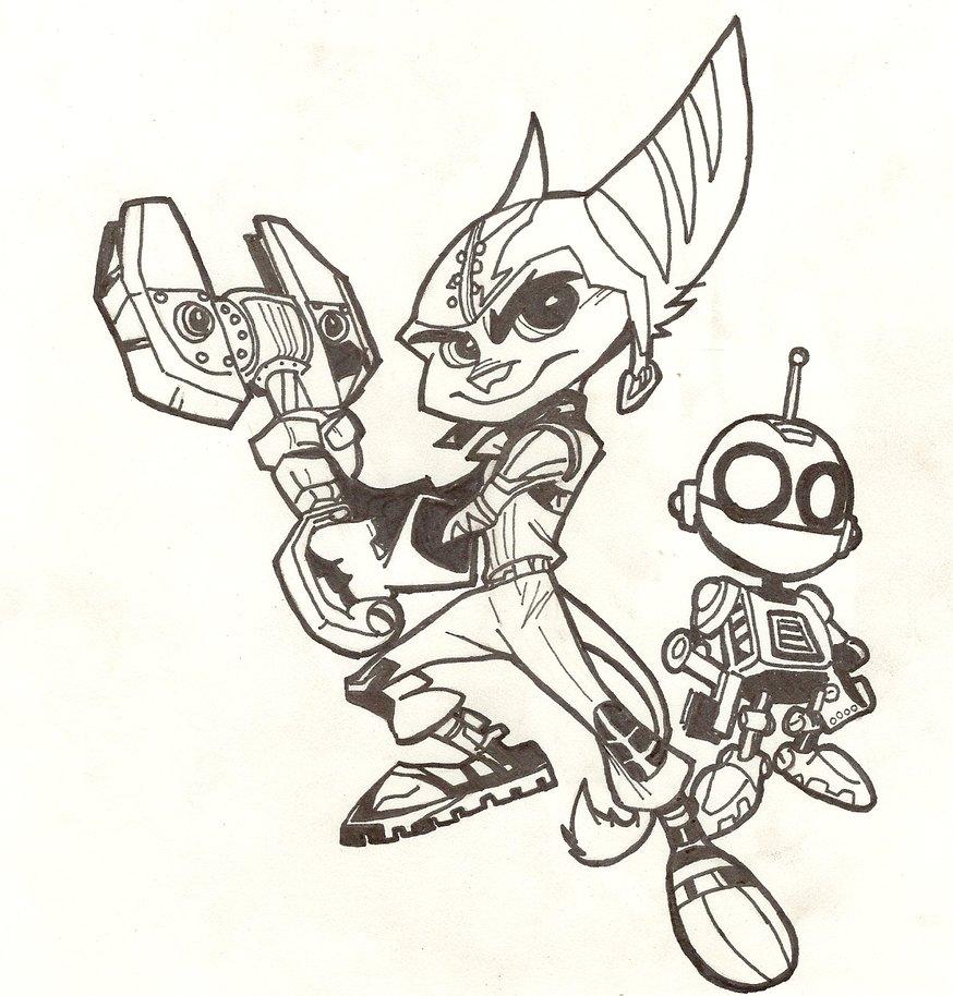 874x914 Ratchet And Clank By Evilpony