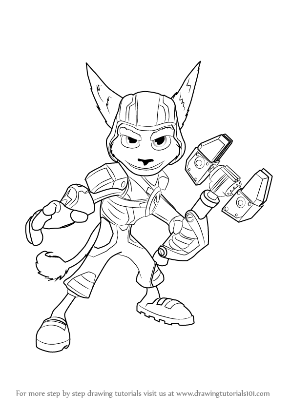 596x843 Learn How To Draw Ratchet From Ratchet And Clank (Ratchet Amp Clank