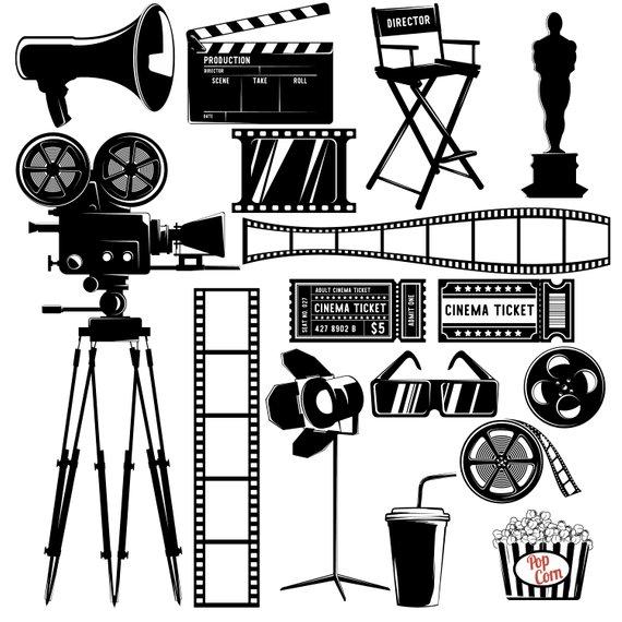 570x570 Cinema Clipart, Movie Clipart, Film Countdown, Movie Graphics