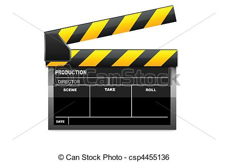 450x320 Isolated Vector Clapboard. Illustration Of Vector Clapboard