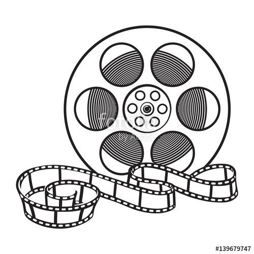 500x500 Blank Cinema Production Black Clapper Board, Sketch Style Vector