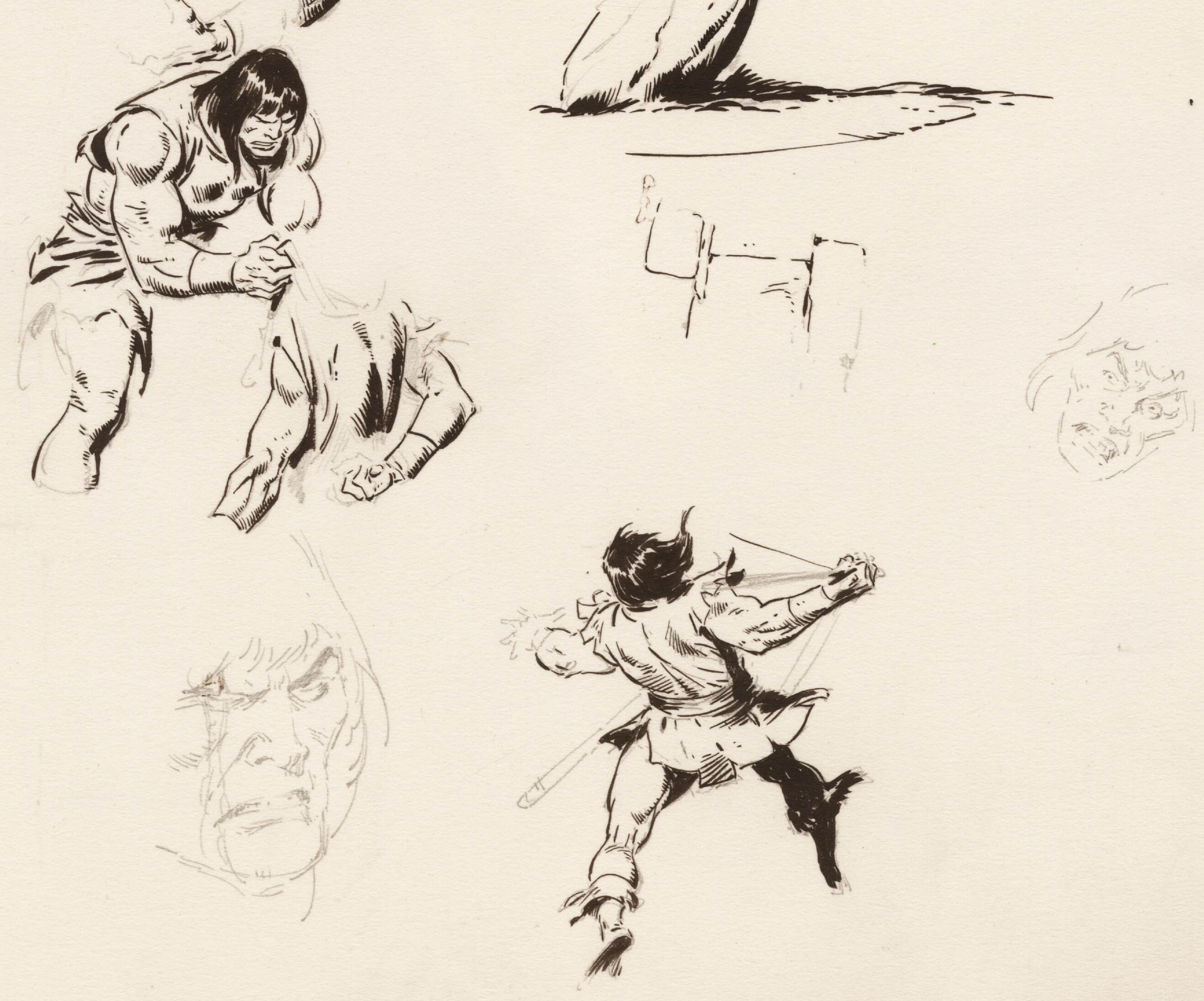 2628x2184 Conan The Barbarian John Buscema The Lost Drawings . Click