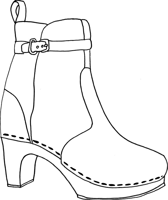 672x800 Das Clog Boot Stickers By Microstudio Redbubble