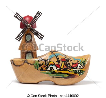 450x414 Windmill Clog. A Wooden Clog Windmill Souvenir From The Clip