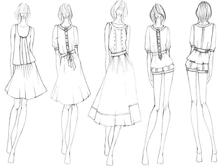 735x555 The 9 Best Design Images On Fashion Drawings, Fashion
