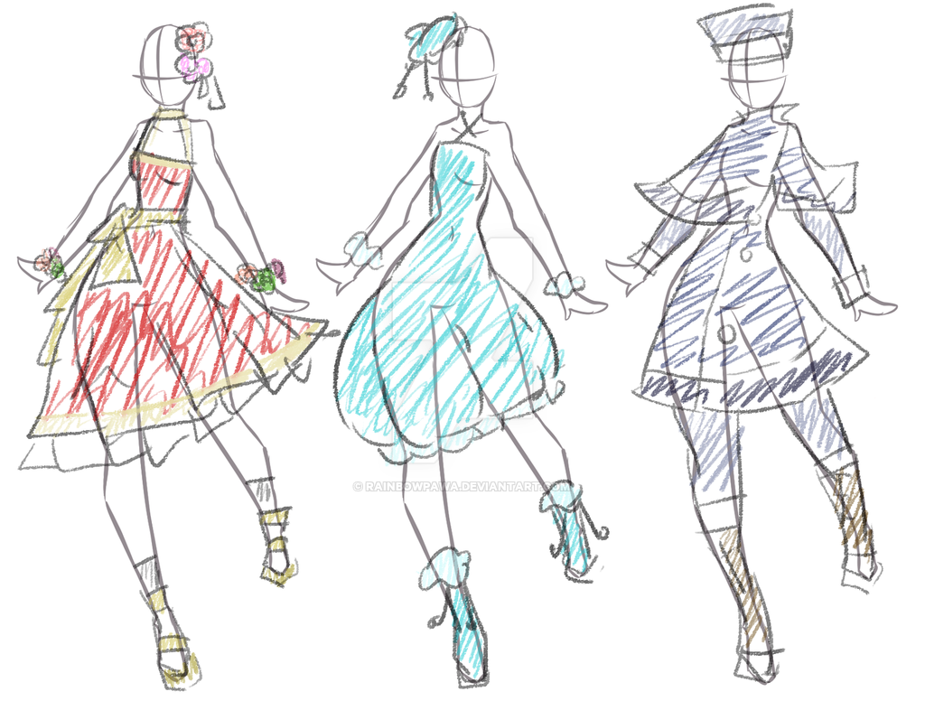 1024x776 Clothes Design Test With New Drawing Tablet By Rainbowpawa