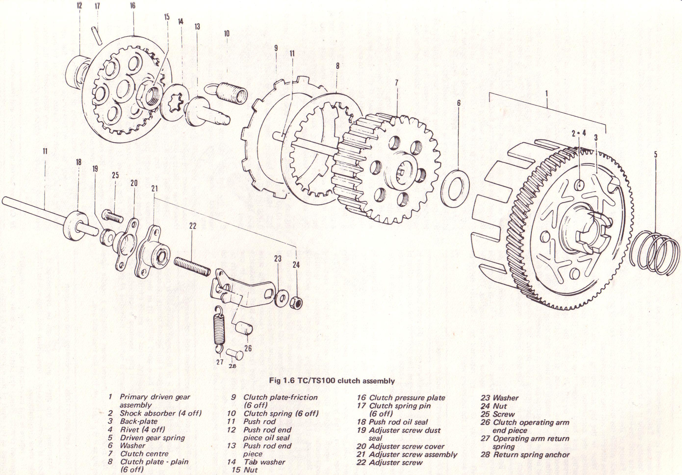 Clutch Drawing At Free For Personal Use Kawasaki Hdx 100 Wiring Diagram 2781x1939 Original Suzuki Ts Tc Tm Forum 03