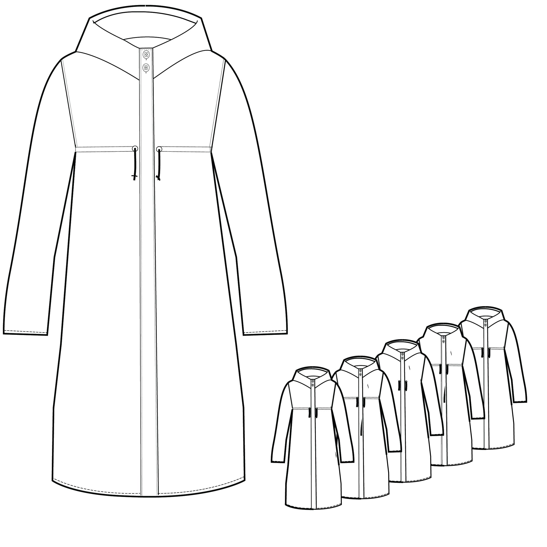 2480x2480 Women's Parka Coat Techpackbuilder