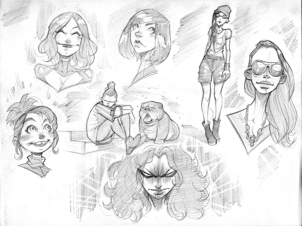 1024x767 Penchill Sketches 2 By Color Reaper