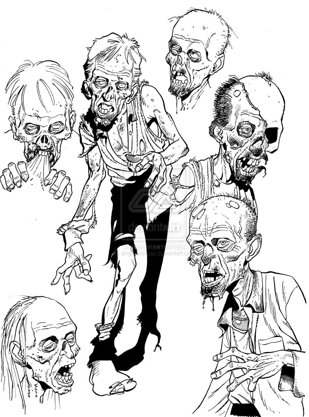 1024x1382 Zombie Drawings Zombie Sketch Stuff By Angryrooster Zombies
