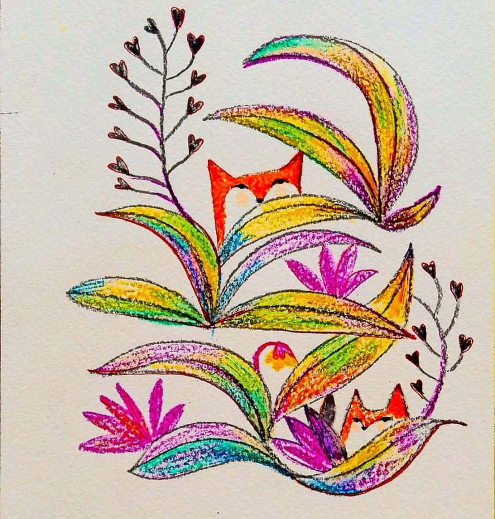 977x1024 Colour Sketch Drawings Colour Sketch Pen Paintings Colour Sketch