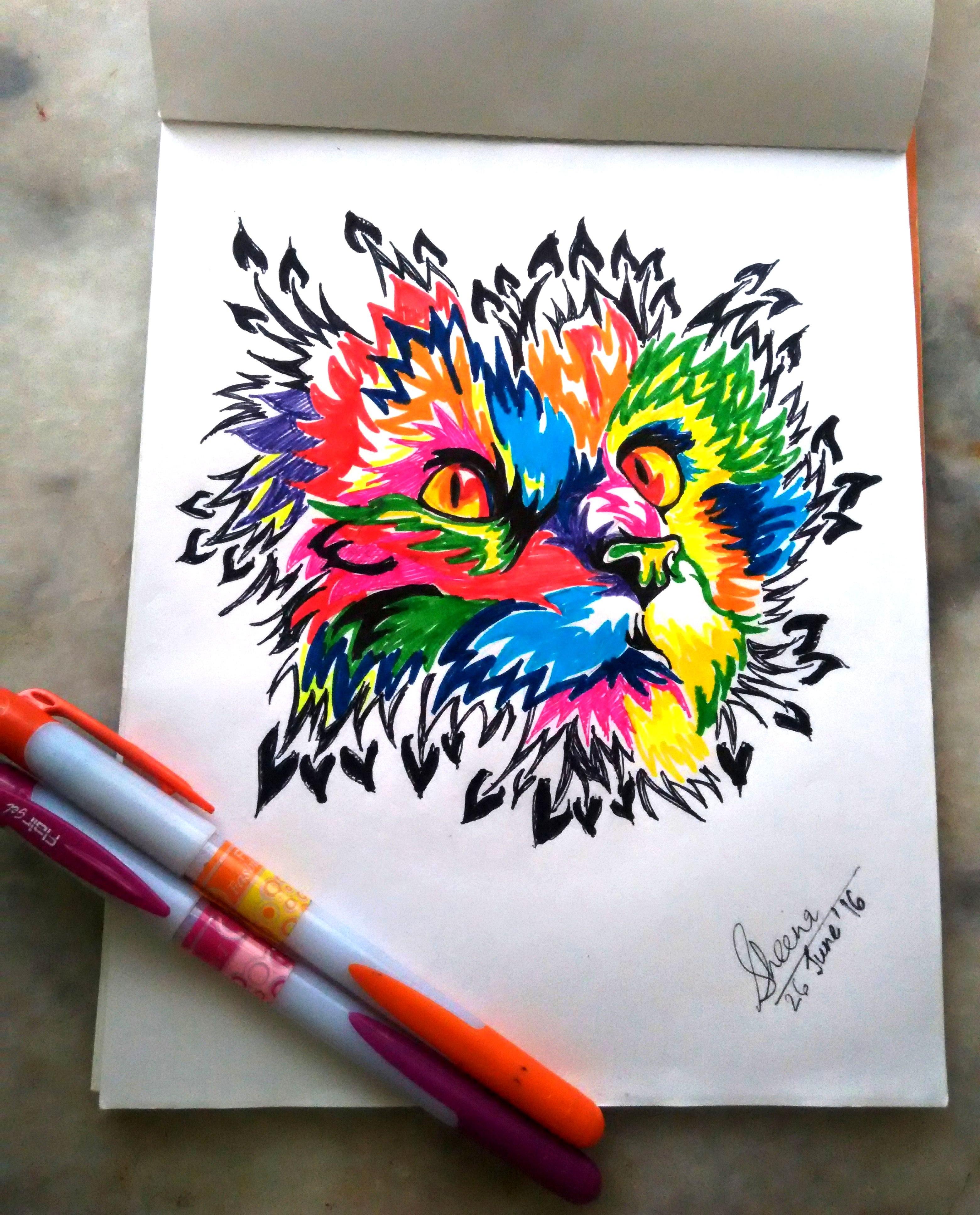 3120x3866 Colour Sketch Pen Drawings