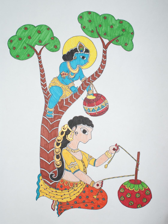1121x1500 Colour Sketch Pen Drawings Colour Sketch Pen Paintings Designs