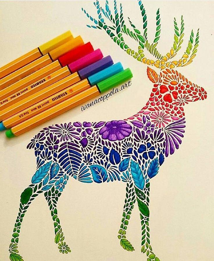 736x898 Photos Coloured Sketch Pen Drawing,