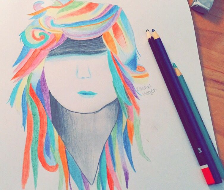 Colorful Hair Drawing Tumblr At Getdrawings Free For Personal