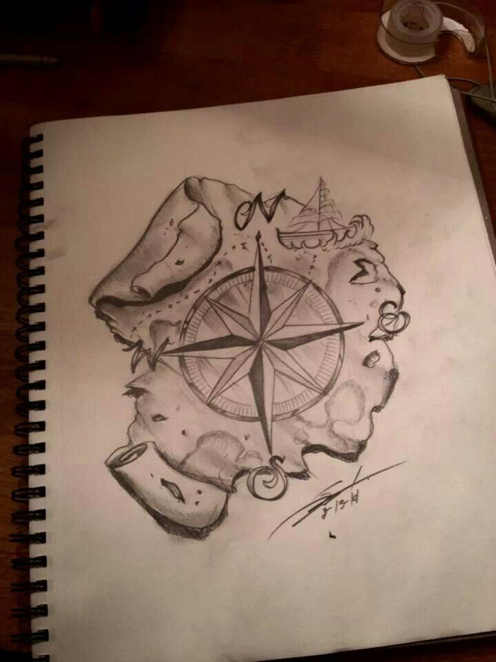 Compass And Map Drawing at GetDrawings com | Free for