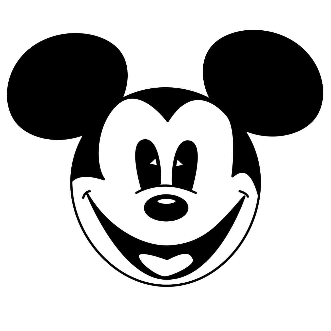 1307x1307 Simple Mickey Mouse Drawing