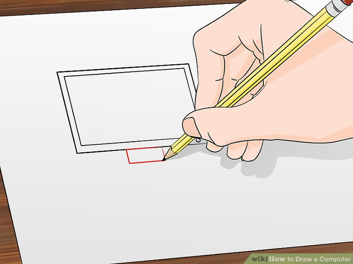 728x546 How To Draw A Computer 12 Steps (With Pictures)