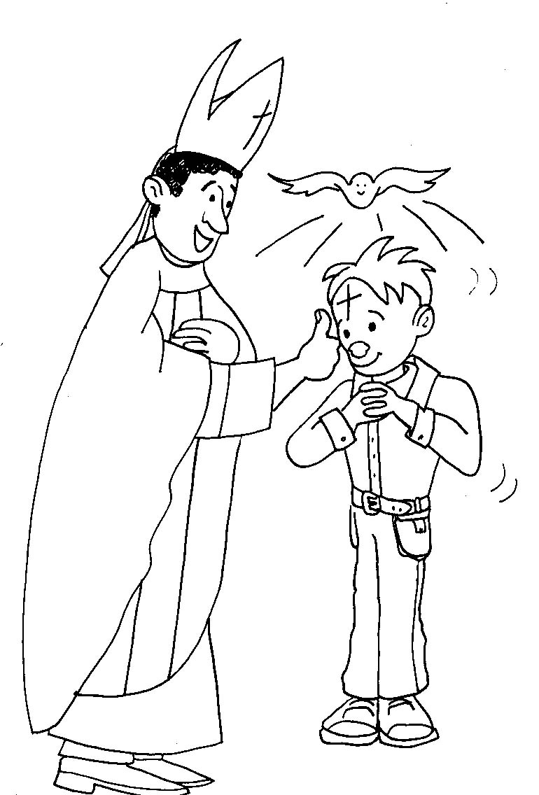 770x1136 Sacrament Of Confirmation Coloring Page Sacrament Of Confirmation
