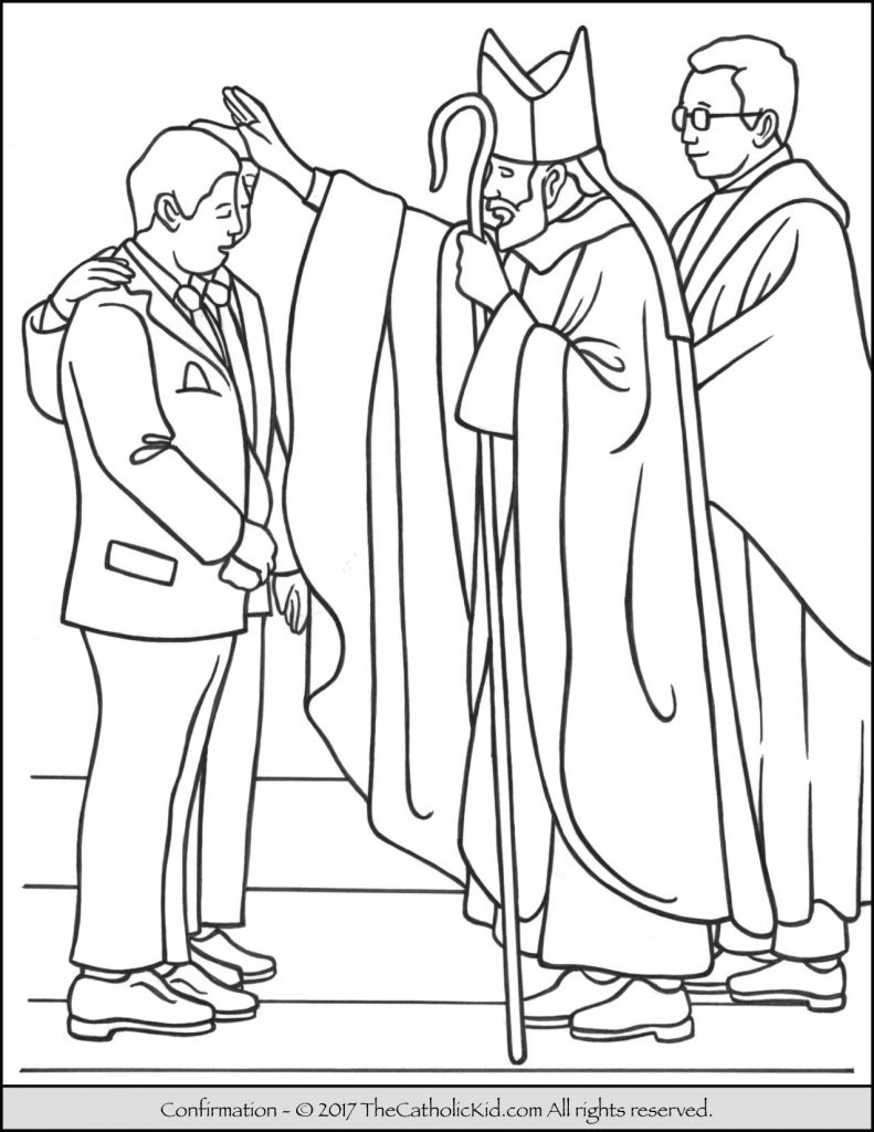 791x1024 Confirmation Coloring Pages