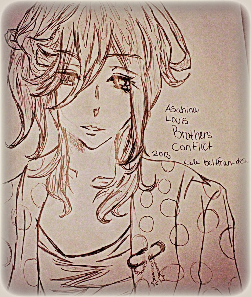 822x972 Asahina Louis Drawing Brothers Conflict By Belxfran Desu