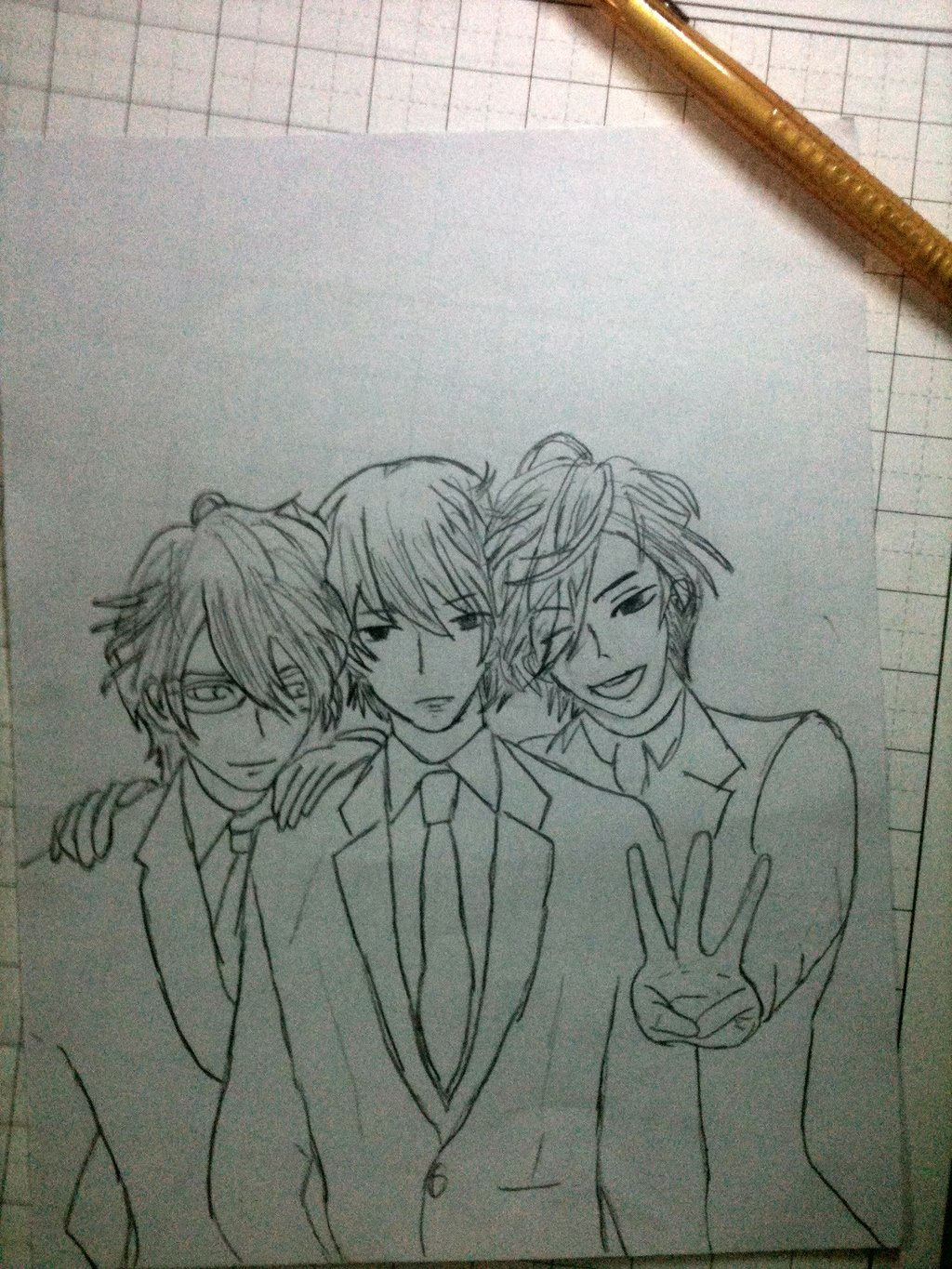 1024x1365 Brothers Conflict Asahina's Triplets By Ootakumin