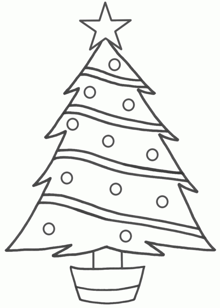 731x1024 Easy To Draw Christmas Tree Easy Christmas Tree Drawing Christmas