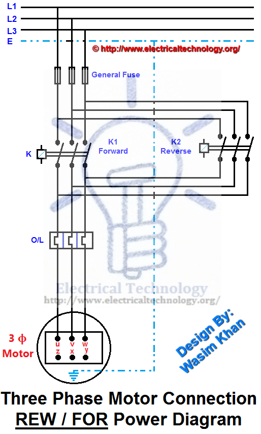 514x853 Rev For Three Phase Motor Connection Power And Control Diagrams