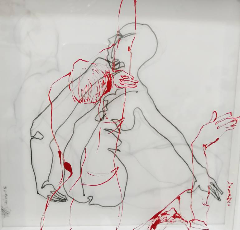 770x740 Saatchi Art Point Of Connection Drawing By Nina Urlichs