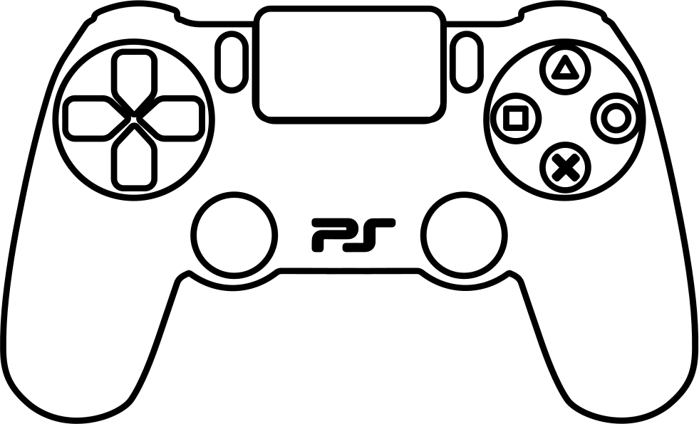 981x596 Ps4 Controller Coloring Page Ps4 Controller Drawing