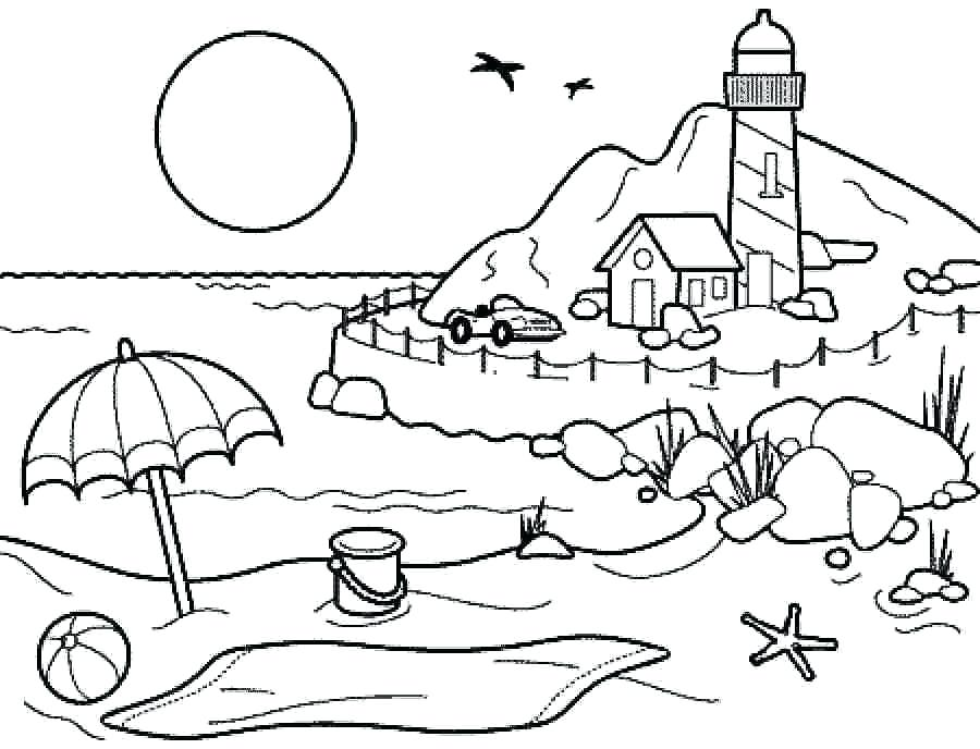 900x688 Preschool Coloring Pages Printable Summer Season Pictures For Kids