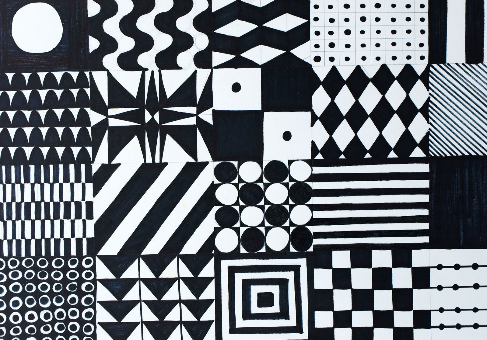 1600x1118 Drawings Numbers Black White Patterns